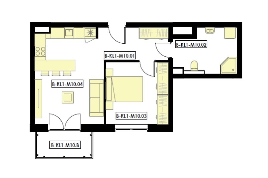 mieszkania 2 pokojowe z aneksem kuchennym